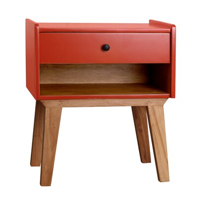 Charlie End Table Color: Orange