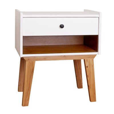 Charlie End Table Color: White