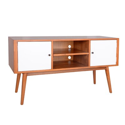 Sergio Media Console TV Lowboard Color: White