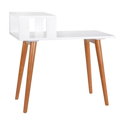 Stevany End Table Color: White