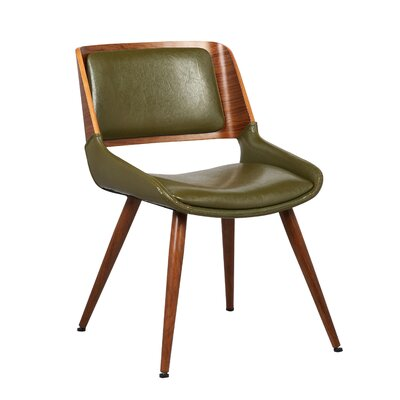Basil Side Chair Upholstery: Green