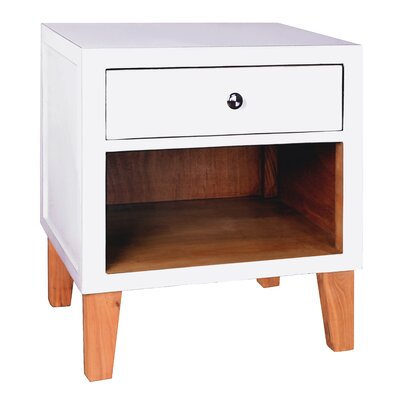 Fauna End Table Color: White