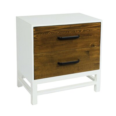 Helena End Table Color: White