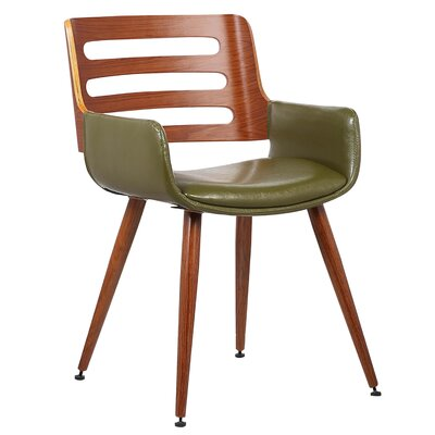 Olivia Side Chair Upholstery: Green