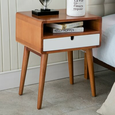 Anais End Table Color: White
