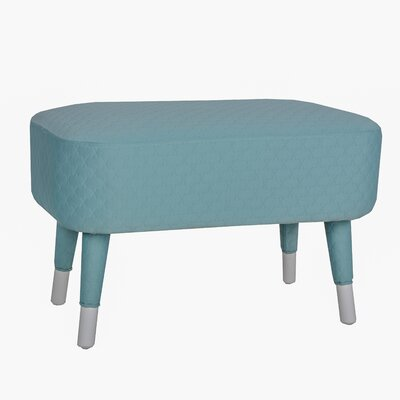 Hugh Ottoman Color: Sky Blue