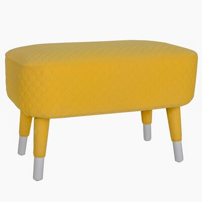Hugh Ottoman Color: Yellow