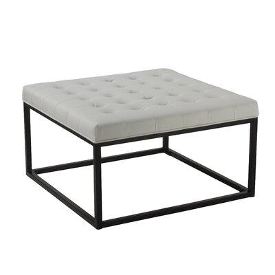 Nova Cocktail Ottoman Upholstery: White