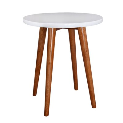 Ashton End Table Color: White