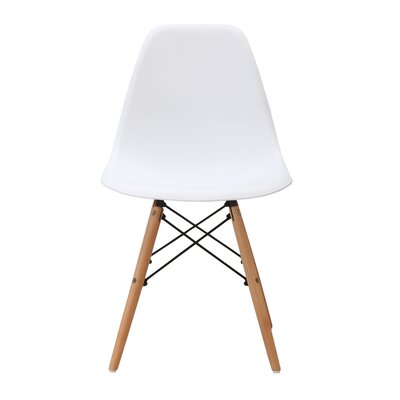 June Solid Wood Dining Chair Finish: White