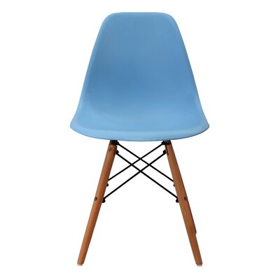 June Solid Wood Dining Chair Finish: Blue