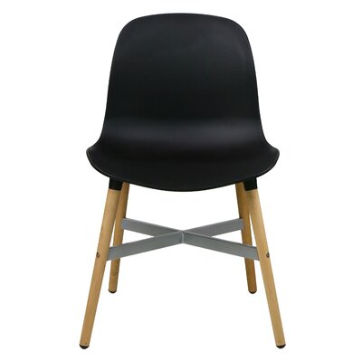 Edie Solid Wood Dining Chair Finish: Black