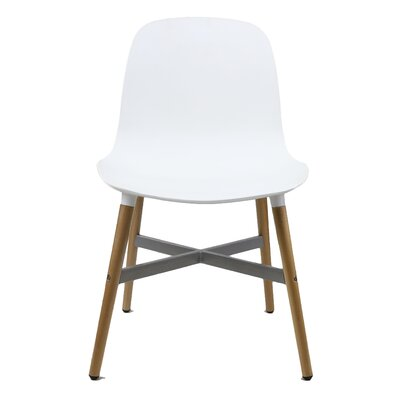 Edie Solid Wood Dining Chair Finish: White