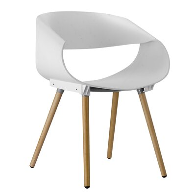 Patricia Solid Wood Dining Chair Finish: White