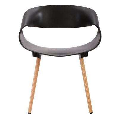 Patricia Solid Wood Dining Chair Finish: Black