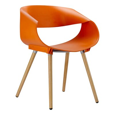 Patricia Solid Wood Dining Chair Finish: Orange