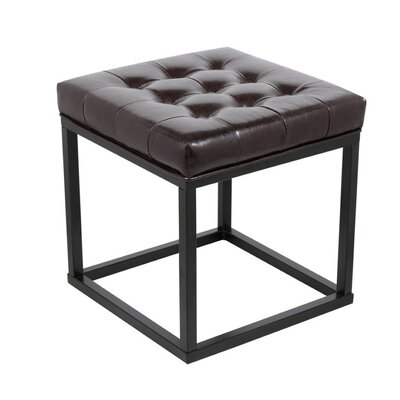 Pearle Square Ottoman Upholstery: Brown