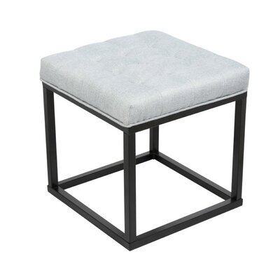 Carmel Square Ottoman Upholstery: Gray