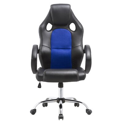 Christo Rally Game Chair Color: Blue