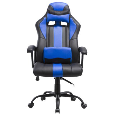 Lorenzo Gaming Chair Color: Blue
