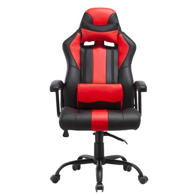 Lorenzo Gaming Chair Color: Red