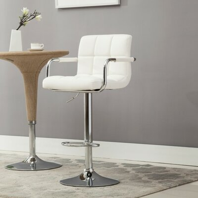 Kerin Adjustable Height Swivel Metal Frame Bar Stool