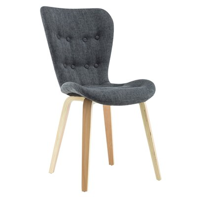 Sioux Upholstered Dining Chair  Upholstery Color: Gray