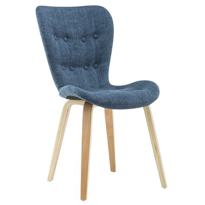 Sioux Upholstered Dining Chair  Upholstery Color: Blue