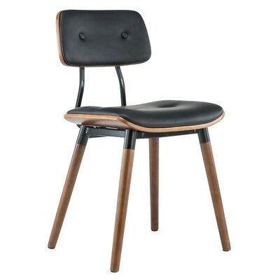 Jaid Dining Side Chair Upholstery: Black
