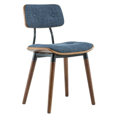 Warren Dining Side Chair Upholstery: Blue