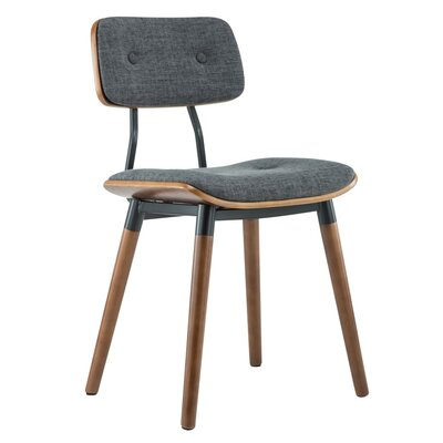 Warren Dining Side Chair Upholstery: Gray