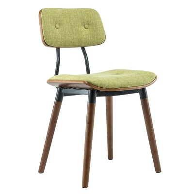 Warren Dining Side Chair Upholstery: Green
