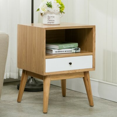 Jacobson End Table Finish: White