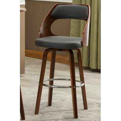 Jolene 28.35 inch Bar Stool Finish: Gray