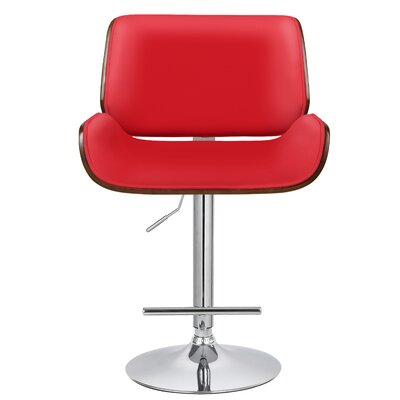 Gordon Adjustable Height Swivel Bar Stool with Cushion