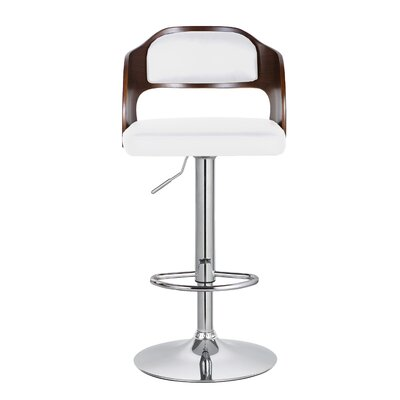 Philip 33.7 Swivel Bar Stool Upholstery: White