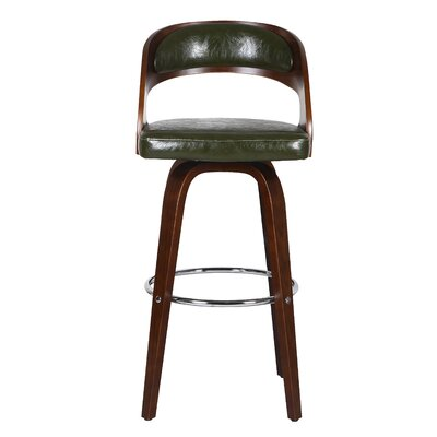 Sydnee 31 Swivel Bar Stool Color: Green