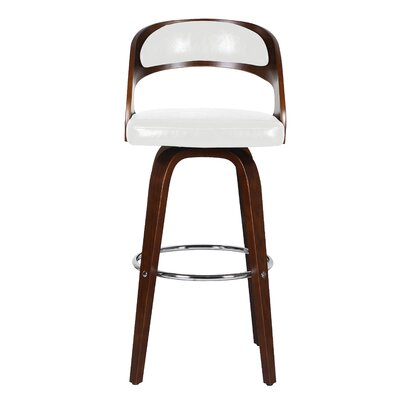 Sydnee 31 Swivel Bar Stool Color: White