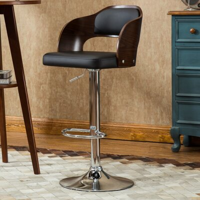 Philip 33.7 Swivel Bar Stool Upholstery: Black