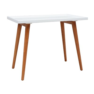 Brimfield Pine Console Table Color: White