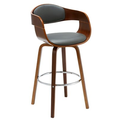 Imogen 28.74 Swivel Bar Stool Finish: Gray
