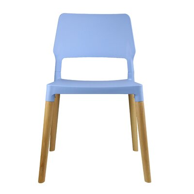 Cynthia Solid Wood Dining Chair Color: Blue