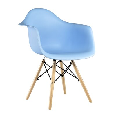 Libby Mid-Century Solid Wood Dining Chair Finish: Blue