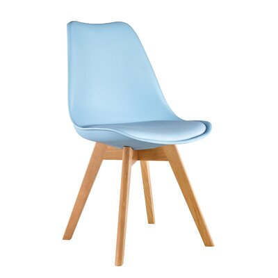 Elle Solid Wood Dining Chair Color: Blue