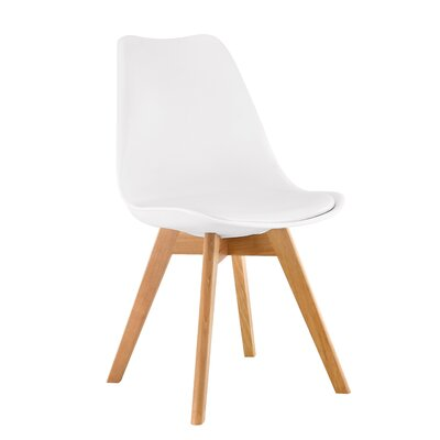 Helena Solid Wood Dining Chairs Color: White