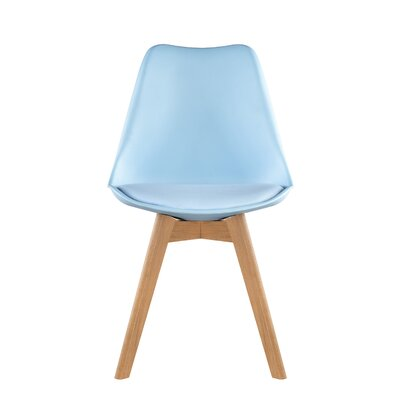 Helena Solid Wood Dining Chairs Color: Blue