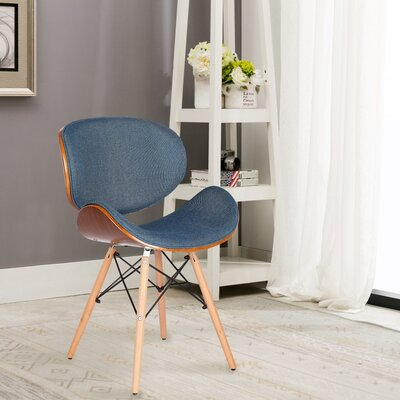 Mucklen Upholstered Dining Chair Upholstery Color: Blue