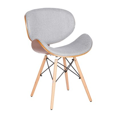 Mucklen Upholstered Dining Chair Upholstery Color: Gray
