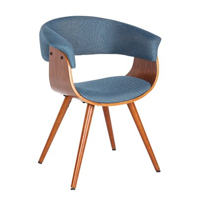 Garley Upholstered Dining Chair Upholstery Color: Blue