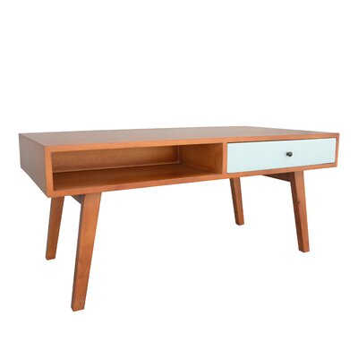 Banjo Mid-Century Mansfield Coffee Table Finish: Aqua